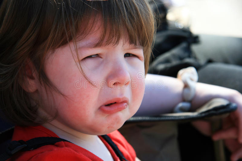 Download Sad, Crying Little Girl stock image. Image of caucasian - 12060905