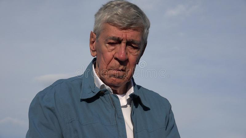 Sad Crying Tearful Elderly Old Man. Stock video in 4k or HD resolution stock photos