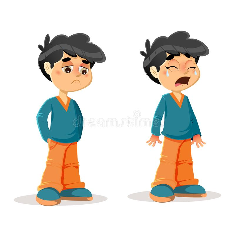 Free Sad Crying Young Boy Expressions Stock Photo - 99430080