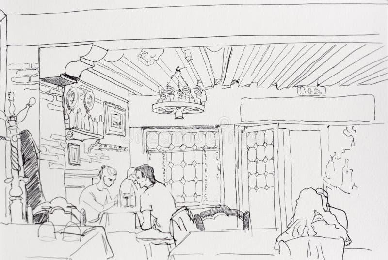 Line Art Couple : Romantic sketch loving couple bench drawn