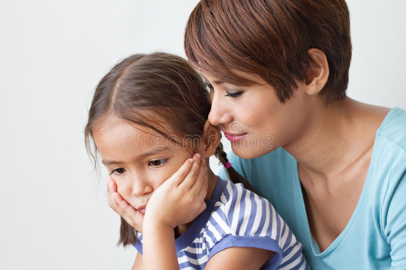 Sad daughter and understanding mother royalty free stock photos