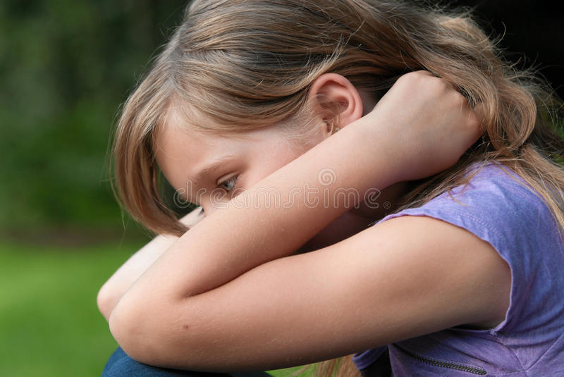 Download Sad dejected girl stock photo. Image of child, girl, arms - 16569680