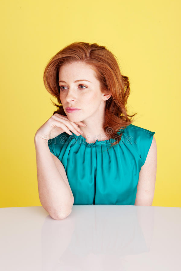 Download Sad Despondent Redhead Beauty Stock Image - Image: 23350891