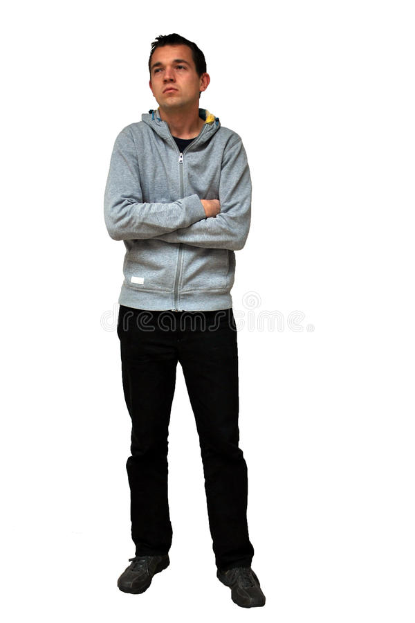 Sad disappointed young man stock photos