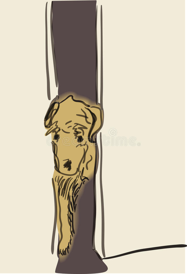 Download Sad dog stock vector. Illustration of bored, puppy, rescue - 20755185