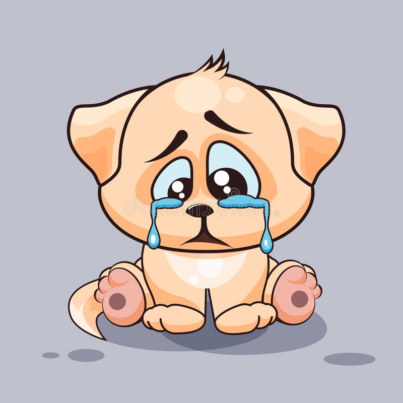 Cartoon Characters Crying : Sad dog crying stock vector illustration of frustration