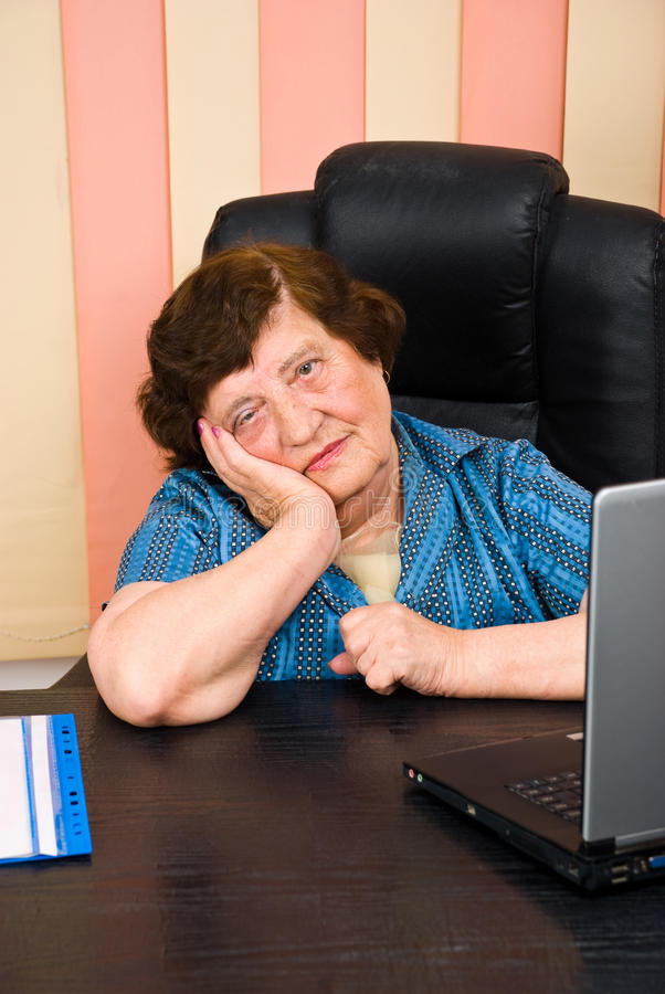 Download Sad Elderly Business Woman Royalty Free Stock Photo - Image: 14861075