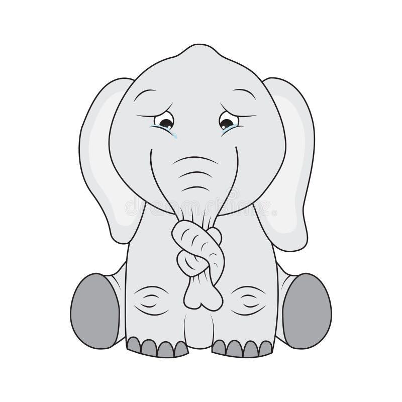 Download Sad elephant stock vector. Image of sitting, grey, stucked - 21141828