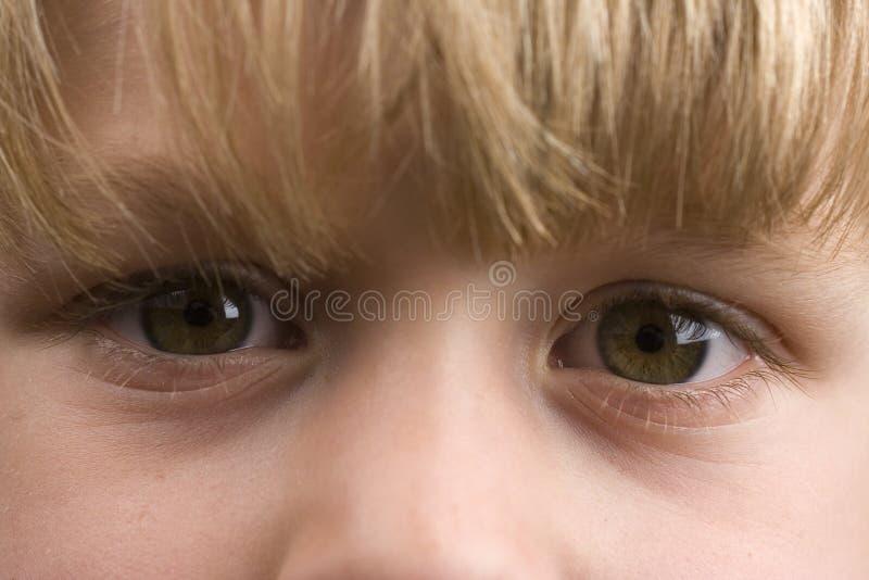 Sad eyes close-up stock photography