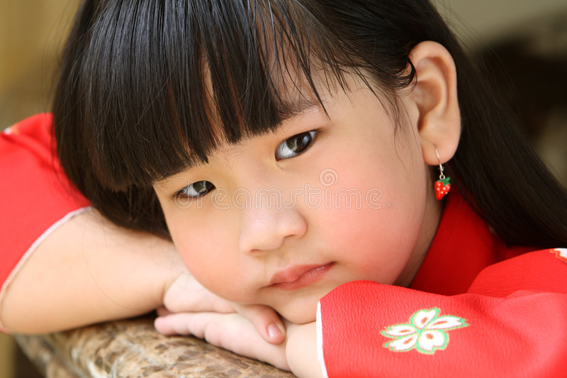 Download Sad face stock image. Image of young, chinese, asian, innocence - 6206731