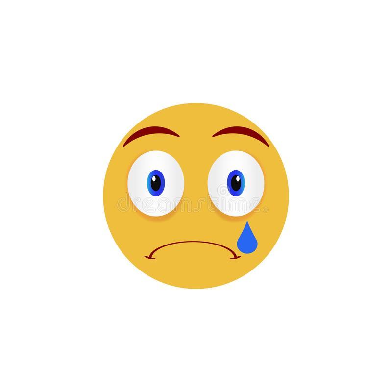 Sad face. Emoticon, emoji icons on white background. Vector illustration. Sad face. Emoticon, emoji icons on white background. Vector vector illustration
