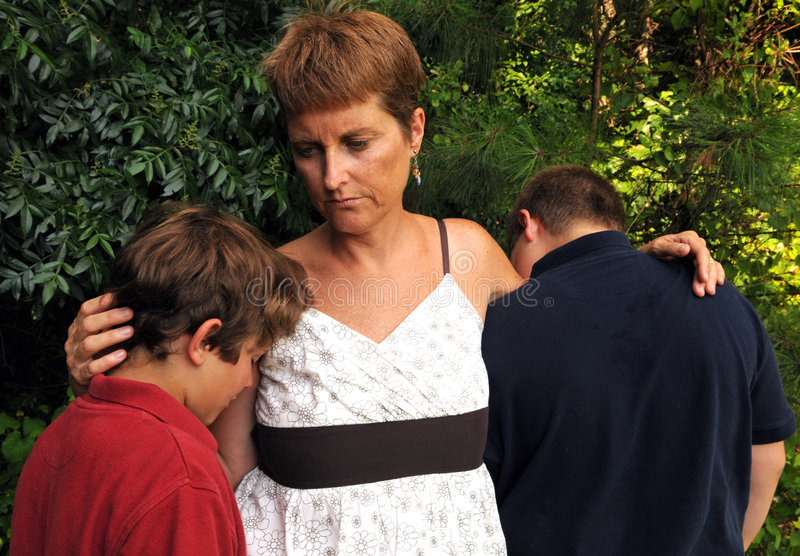Download Sad family stock image. Image of mother, despondent, mourning - 5465743