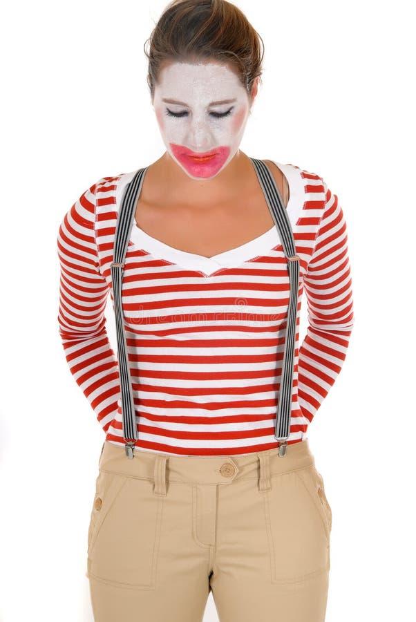 Download Sad Female Clown Suspenders Stock Image - Image of halloween, carnival: 12607831