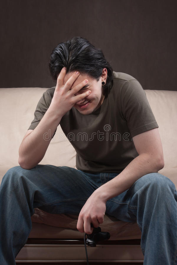 Download Sad gamer stock image. Image of adult, gamer, happy, crazy - 23719957