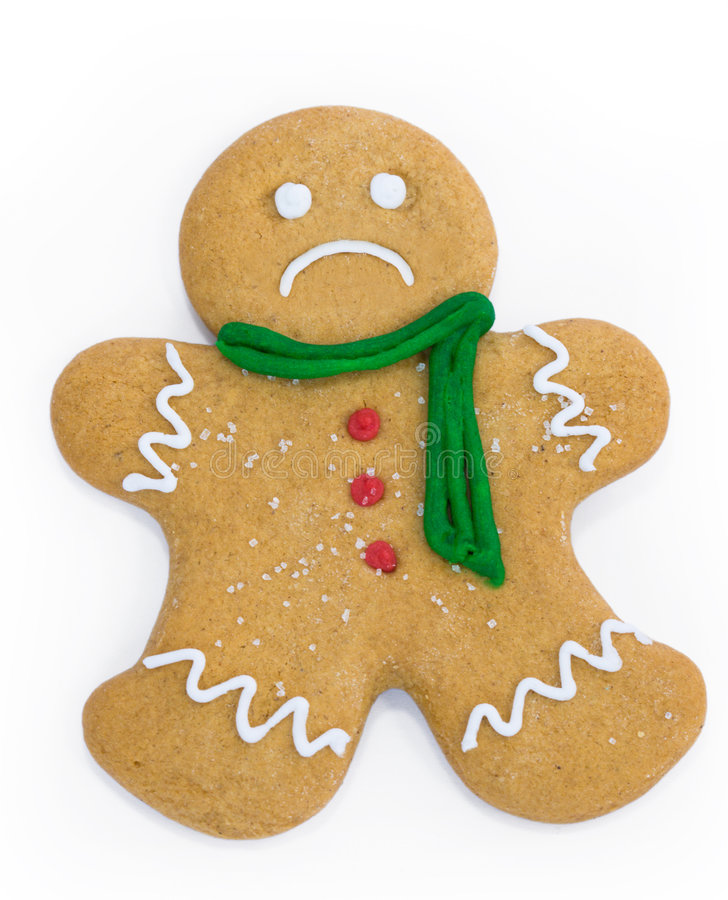 Free Sad Gingerbread Man Stock Photo - 7310140
