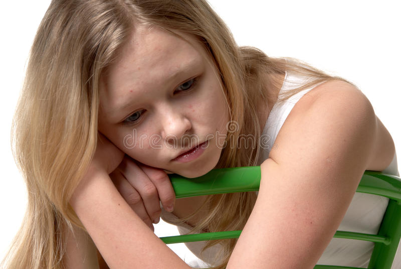 Sad girl royalty free stock photos