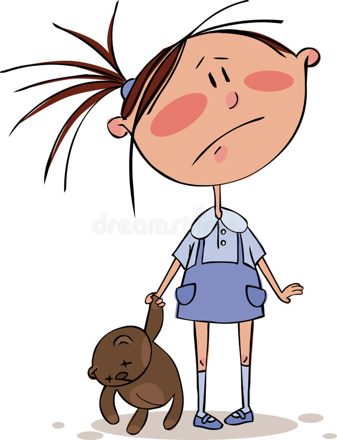 Download Sad girl stock vector. Image of action, cute, girls, boys - 11201592