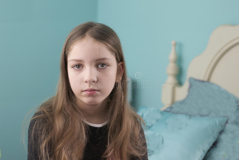 Download Sad Girl stock photo. Image of forlorn, girl, depressed - 28182856