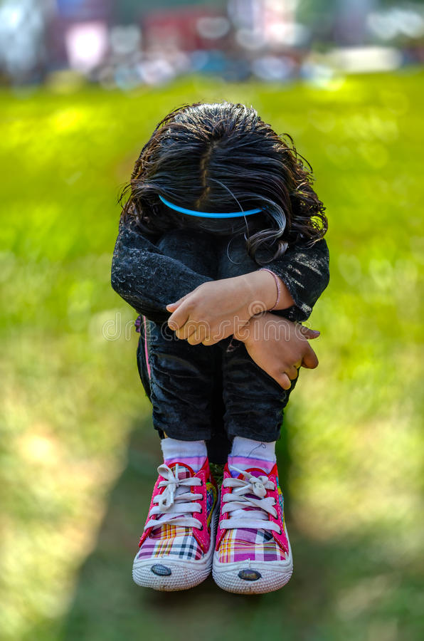 Free Sad Girl Child Stock Photos - 35610953