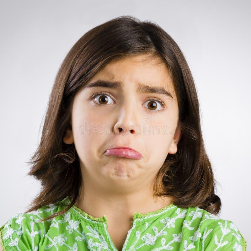 Sad girl stock photo