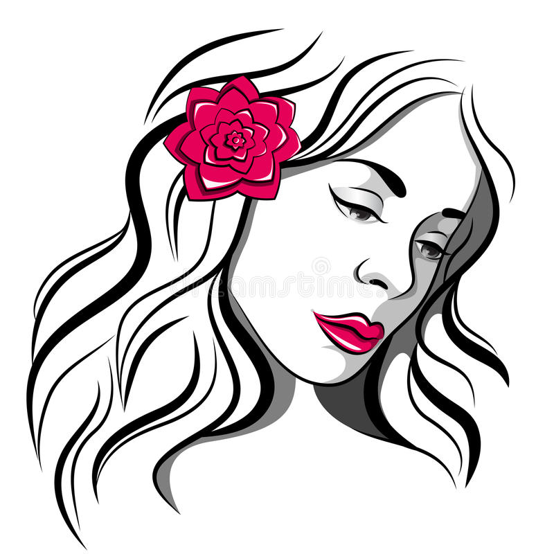 Sad girl with rose royalty free stock photos