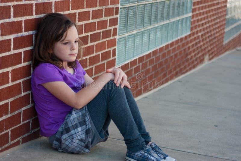 Sad Girl On Street Royalty Free Stock Photos