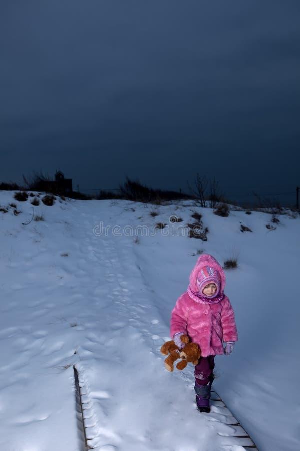 Sad girl walking away