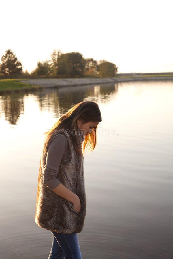 Free Sad Girl Walking On The Beach Stock Photos - 35255953