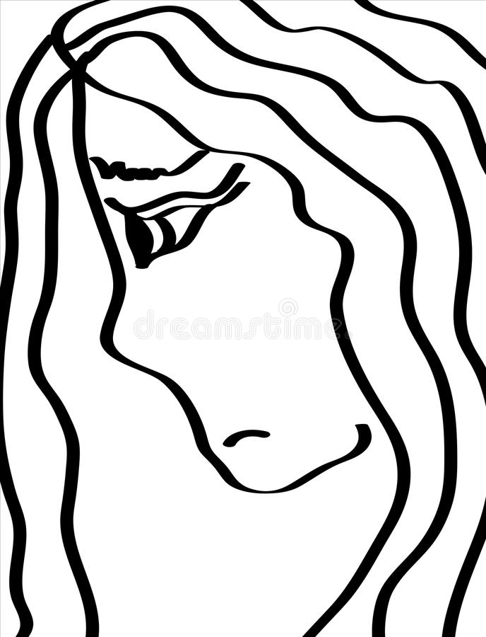 Sad girl royalty free stock image