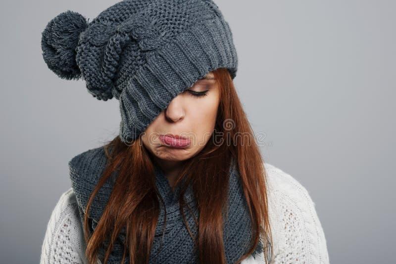 Sad girl stock image