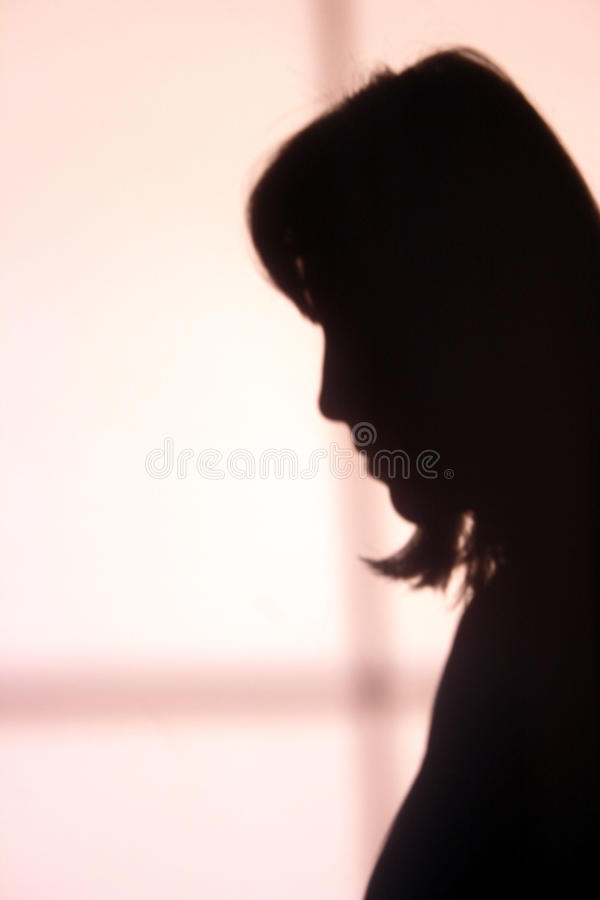 Download Sad girls shadow stock image. Image of creative, nose - 9363827