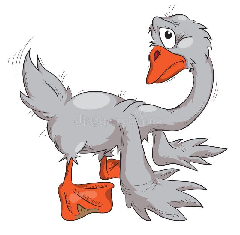 A sad goose royalty free illustration