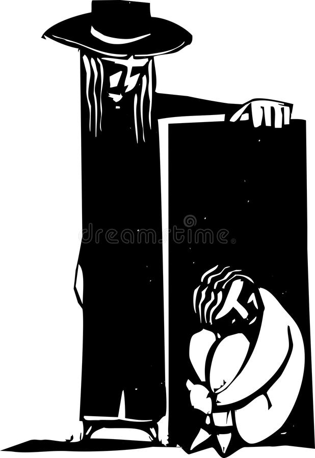 Download Sad and Hiding stock vector. Image of depression, hide - 26188805