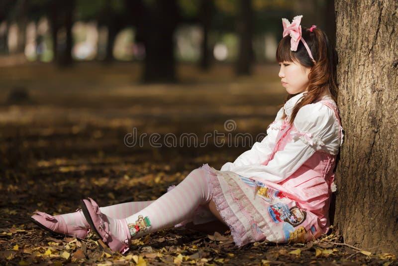 SAD japansk lolita royaltyfria foton