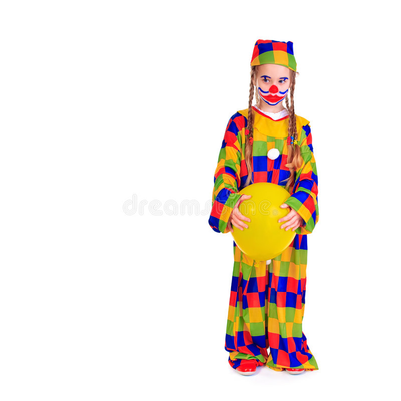 Download Sad Jester stock image. Image of children, adorable, cavort - 7923817