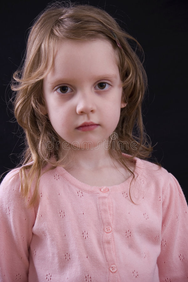 Sad kid royalty free stock photography