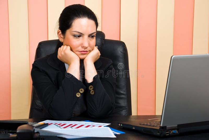 SAD kvinna för affärskontor royaltyfria bilder