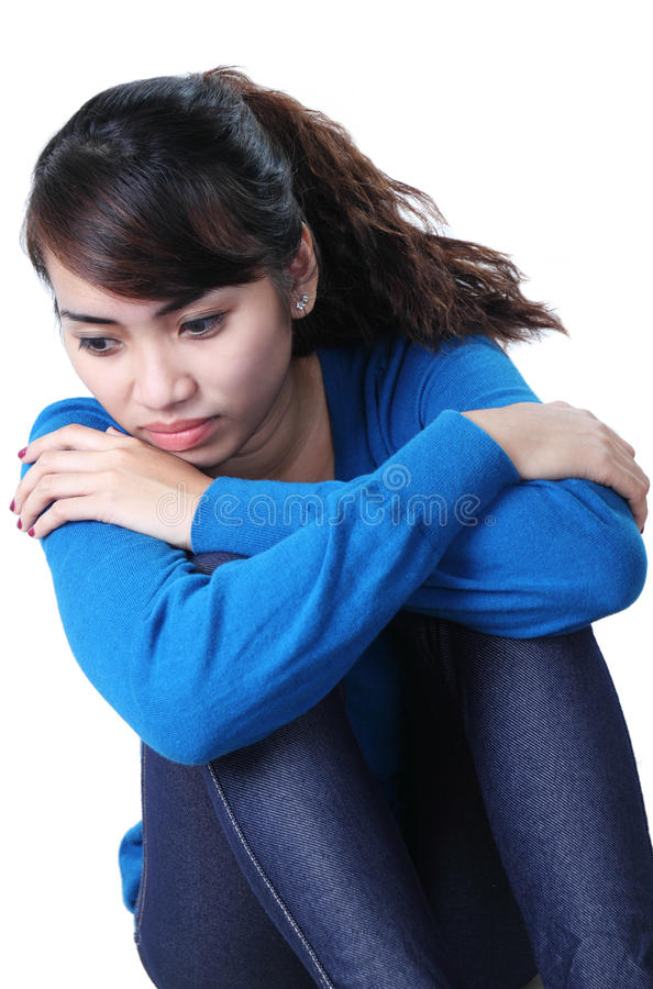 Download Sad Lady stock image. Image of beautiful, person, stress - 25153601
