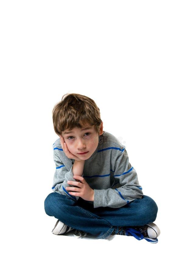 Sad little boy royalty free stock photography