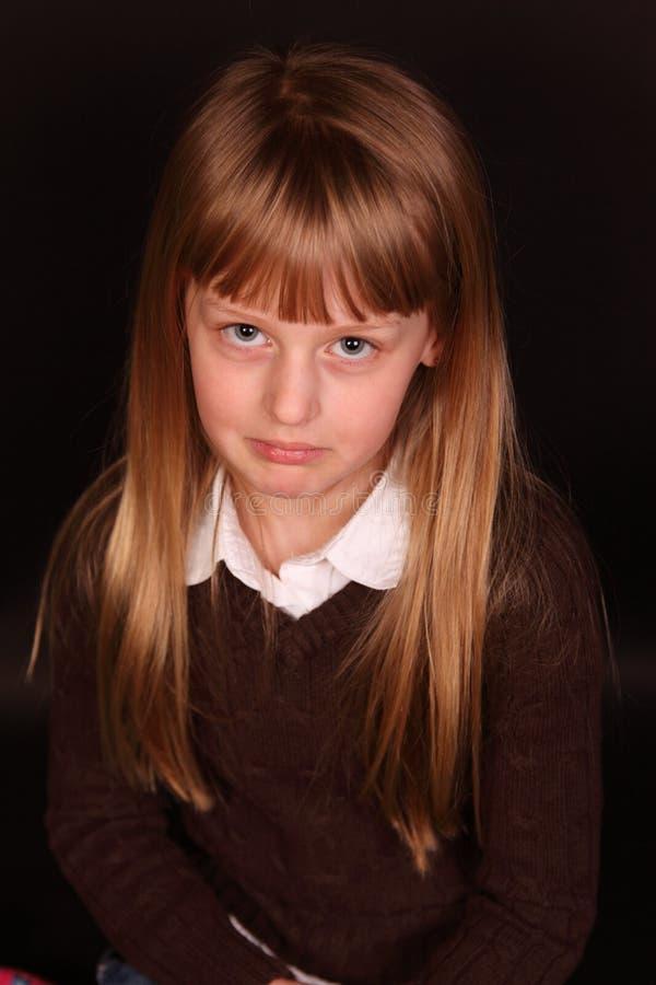 Download Sad little girl stock image. Image of portrait, child - 19430977