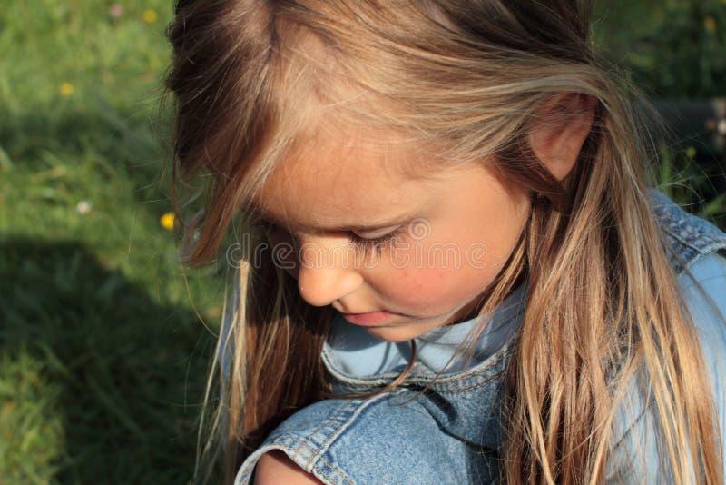Download Sad little girl stock image. Image of shame, young, smiling - 19528537
