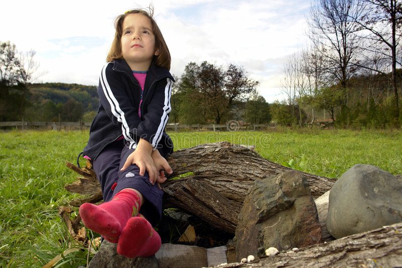Download Sad little girl stock image. Image of distressed, female - 3433381