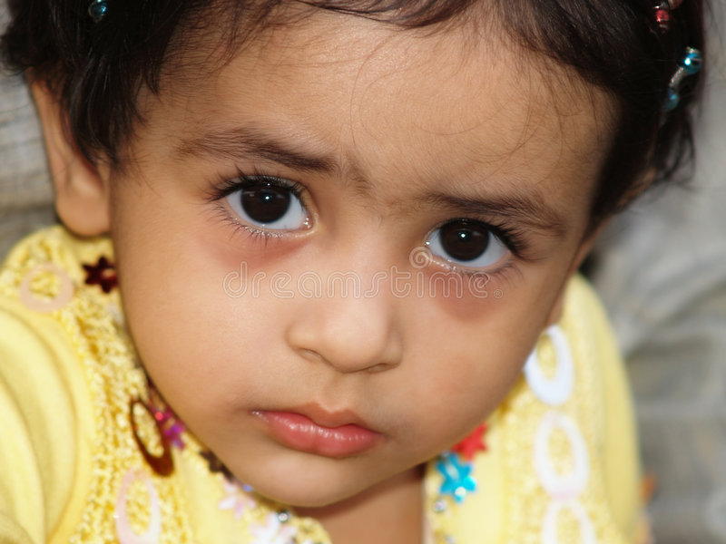 Download Sad little girl stock photo. Image of look, cute, seriously - 4435702