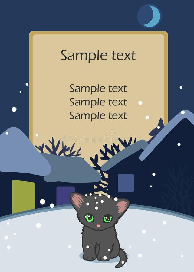 Download Sad little kitten stock vector. Image of background, homeless - 22295859