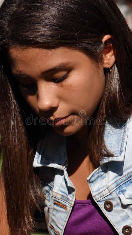 Sad And Lonely Teen Girl stock photos