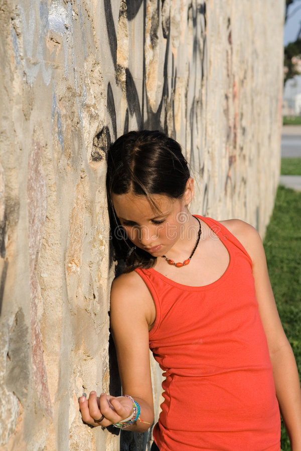 Download Sad lonely unhappy kid stock photo. Image of distress - 5681266