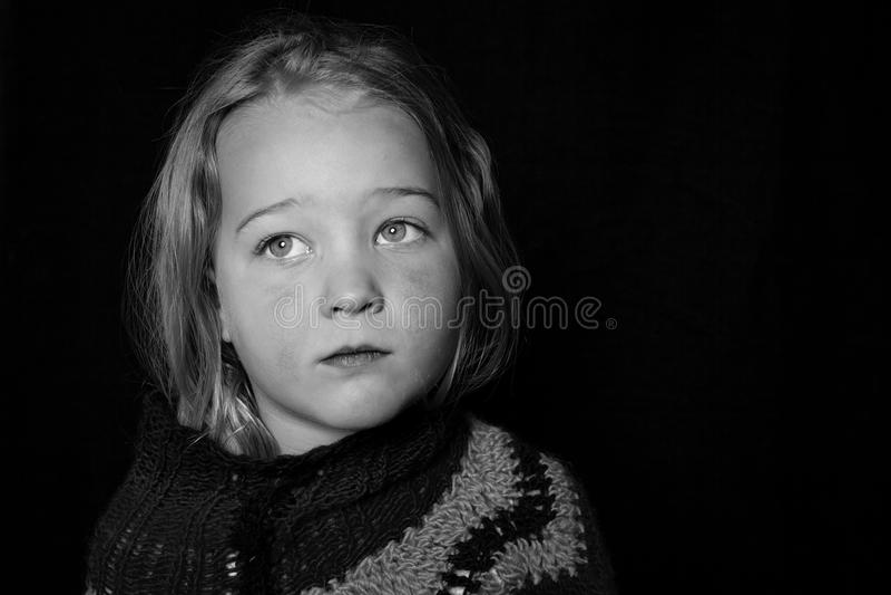 Sad looking girl. royalty free stock photos