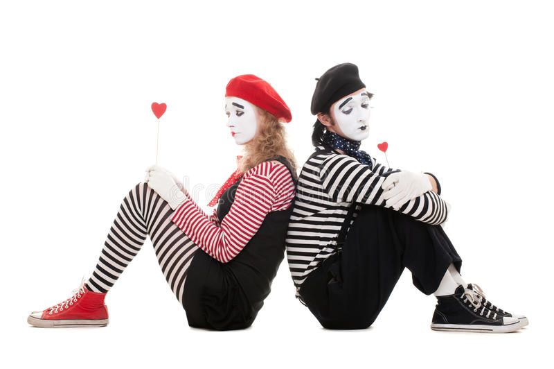 Sad Lovers Royalty Free Stock Image