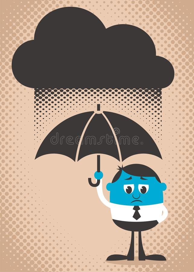 Download Sad Man stock vector. Image of copyspace, frowning, cloud - 24199410