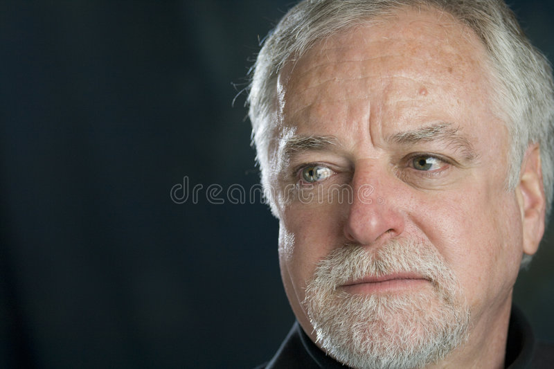 Download Sad man stock photo. Image of wise, face, senior, casual - 5076818